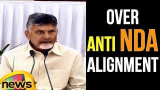 AP CM Chandrababu Naidu Press Meet With Ashok Gehlot Over Anti NDA Alignment | Mango News - MANGONEWS