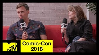 Bill Skarsgård and Sissy Spacek on 'Castle Rock', Stephen King, & More | Comic-Con 2018 | MTV - MTV