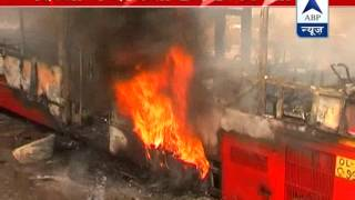 SHOCKING l DTC low-floor bus catches fire, no casualty - ABPNEWSTV