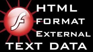 Flash Tutorial Load HTML Format External Text Into Dynamic Text Field CS3 CS4 CS5 view on youtube.com tube online.