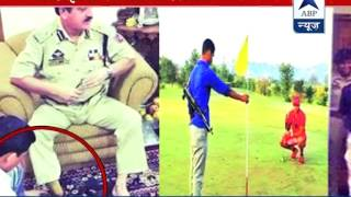 Man ties shoe lace of Kashmir DIG, son boasts of power - ABPNEWSTV