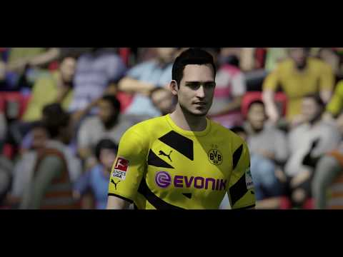 FIFA 15 PS4 Gameplay Dortmund vs. Barcelona (HD) 1080p