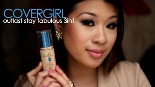 wendytung &#8211; Review: CoverGirl outlast stay fabulous 3in1 Foundation