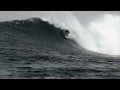 Mick Fanning surfing heaving barrels in early 2012