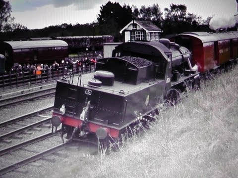 Steam Derailment !! 46521 Derails Badly at The GCR Swithland Gala 2013