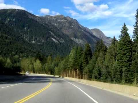 Revelstoke to Golden, British Columbia on Trans Canada 1 - time lapse drive