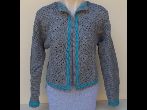 Granny Square Jacket Crochet Tutorial Part 1 of 2