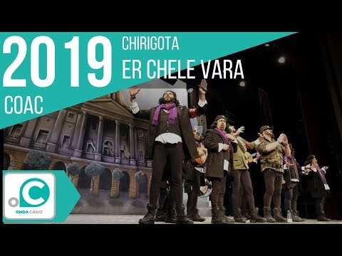 Sesión de Preliminares, la agrupación Er Chele Vara actúa hoy en la modalidad de Chirigotas.