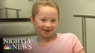 Little Girl Gets New Prosthetics After Hers Are Destroyed In Fire | NBC Nightly News - NBCNEWS