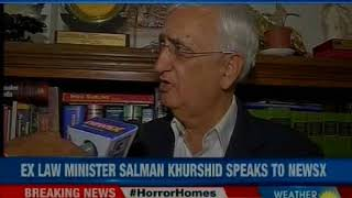Former Law Minister Salman Khurshid attacks BJP and defends Congress party on NewsX - NEWSXLIVE
