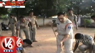 Police department participation in Swachh Bharat mission - Teenmaar News - V6NEWSTELUGU