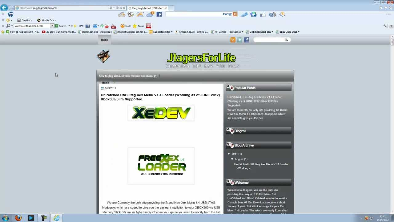 xex menu 1.4 download usb