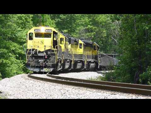 NYS&W 05-27-2011 SU-100 Train & Tree Crash LONG VERSION HD