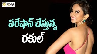 Rakul Preet Singh Real Behaviour at  Dhruva Movie Sets