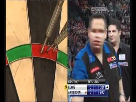 Adrian Lewis 9 Dart Finish 2011 Ladbrokes WORLD CHAMPIONSHIP FINAL.flv