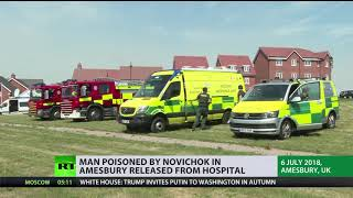 Amesbury incident latest: Man reportedly poisoned by Novichok discharged from hospital - RUSSIATODAY
