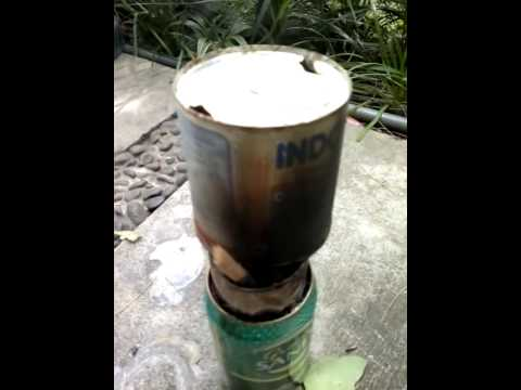soda can, mini TLUD biomass gasifier