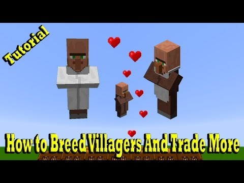 Minecraft How to Breed Villagers And Trade More