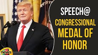 President Trump Speech At Congressional Medal Of Honor Society Reception | Mango News - MANGONEWS