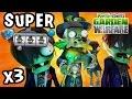 SUPER BARON VON BATS Zomboss Vampire Wave Battle! x3 (UNPLANNED PVZ Garden Warfare RECORDING)
