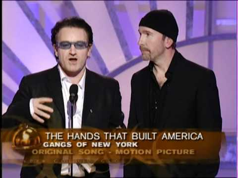 Golden Globes 2003 U2 Wins Best Original Song
