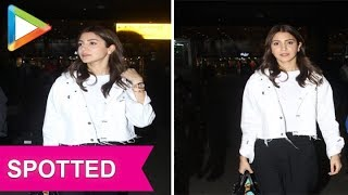 Zero Actress Anushka Sharma Spotted at Mumbai Airport - HUNGAMA