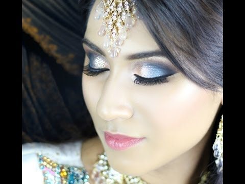 Blue / Turquoise / Orange Smokey Eye - Walima Bridal - Asian Indian Makeup Tutorial