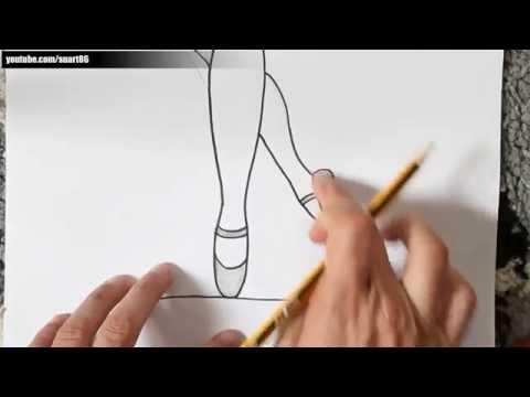 Como dibujar zapatillas de ballet paso a paso
