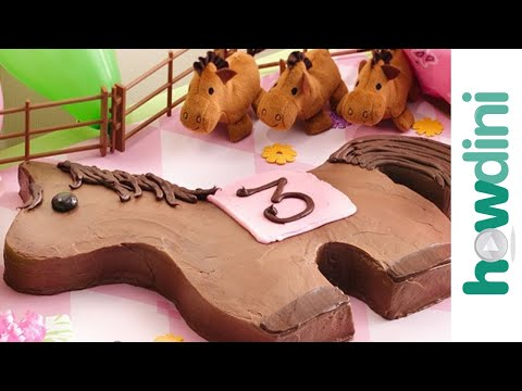 Pony birthday cake - How to make a pony cake