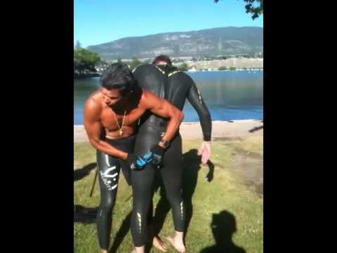 Triathlon wetsuit fitting