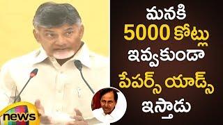 Chandrababu Naidu Serious Comments KCR Paper Ads in Andhra Pradesh | AP CM Chandrababu Speech - MANGONEWS