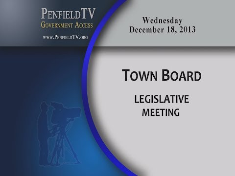 2013-12-18 PEN Town Brd Legislative Meeting