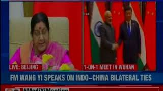 India-China joint address by EAM Sushma Swaraj and Chinese Foreign Minister Wang Yi - NEWSXLIVE