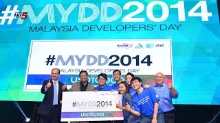 App Competition On Malaysia Developer's Day   AT&T/MCMC 2014 : TV5 News - TV5NEWSCHANNEL