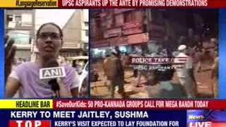 UPSC aspirants run riot in North Delhi - NEWSXLIVE