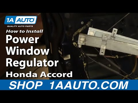 How To Install Repair Replace Power Window Regulator Honda Accord 98-02 1AAuto.com