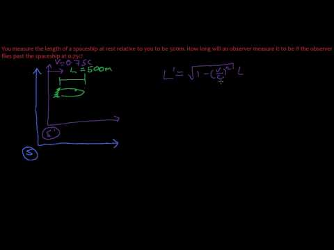 18. Length Contraction in Special Relativity - Example Problem
