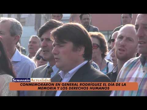 Conmemoraron en General Rodríguez el Día de la Memoria y los Derechos Humanos