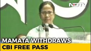 After Chandrababu Naidu, Now Mamata Banerjee Withdraws Free Pass To CBI - NDTV