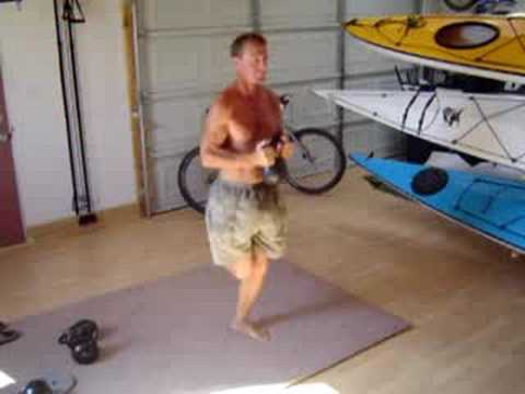Kayak Core Strength - One Legged Squat Rolls with a Kettlebe
