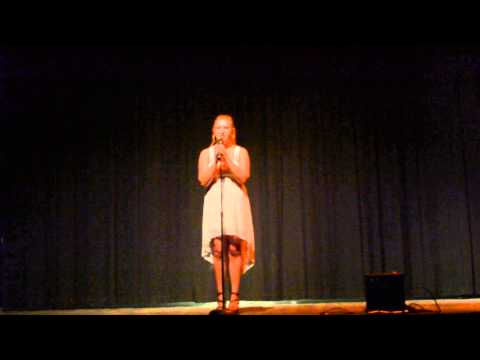 Jennifer at the Senior Talent Show