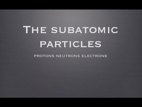 VCE UNIT 1: Protons neutrons and electrons.