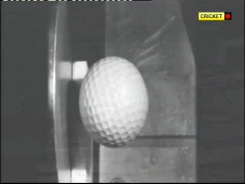 Golf Ball hitting steel super slo mo
