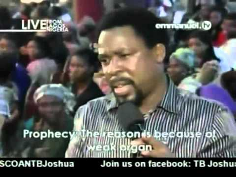 TB Joshua. Prayer & Prophecy 13 08 2012