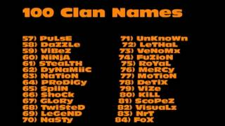 Awesome Cod Clan Names http://www.youtube.com/all_comments?v