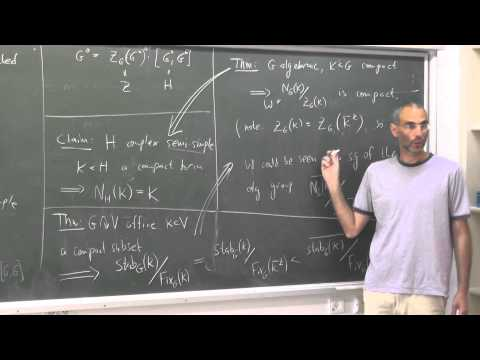 Topics in algebraic groups theory Uri Bader 7th week 1st hour
