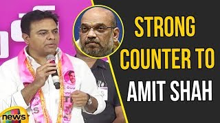 KTR Strong Counter To Amit Shah | TRS Vs BJP News Updates | KTR Latest News on BJP | Mango News - MANGONEWS