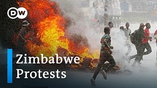 Hundreds arrested in Zimbabwe after fuel hike protests | DW News - DEUTSCHEWELLEENGLISH