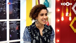 Sanya Malhotra gives feedback to Entertainment Journalists on asking better questions | Exclusive - ZOOMDEKHO