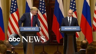 Trump stands his ground after Putin news conference backlash - ABCNEWS